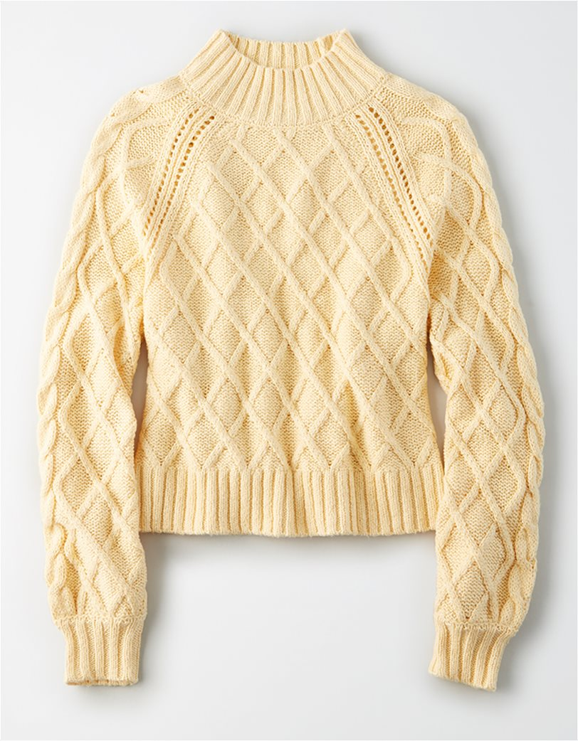 AE Mock Neck Cable Knit Sweater 2