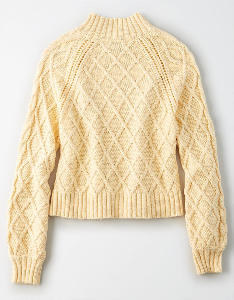 AE Mock Neck Cable Knit Sweater 3