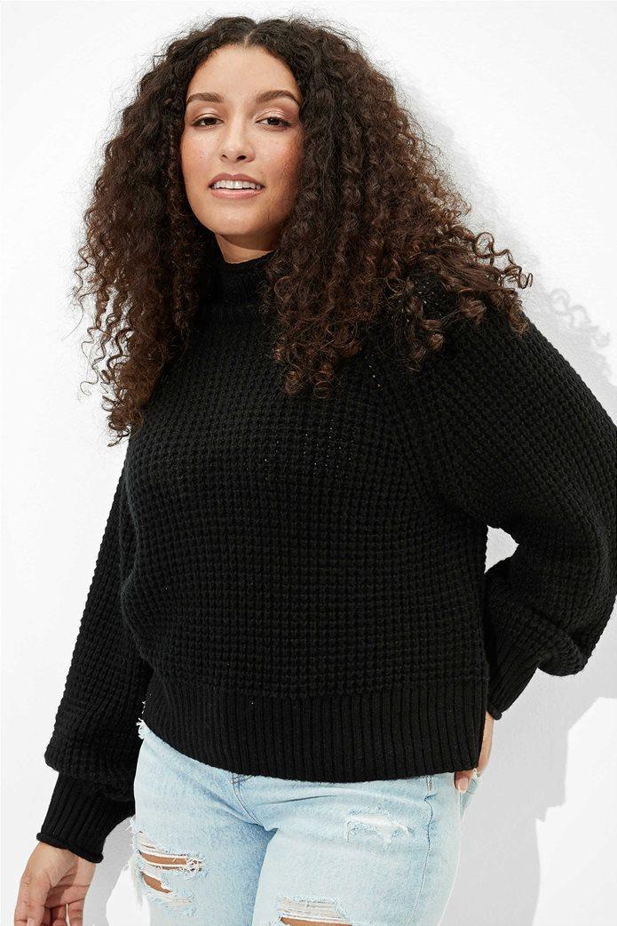AE Dreamspun Mock Neck Sweater Μαύρο 0