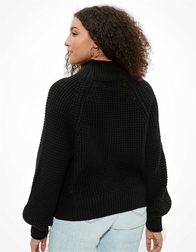 AE Dreamspun Mock Neck Sweater Μαύρο 1