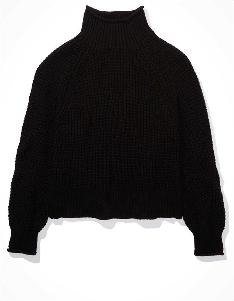 AE Dreamspun Mock Neck Sweater Μαύρο 2