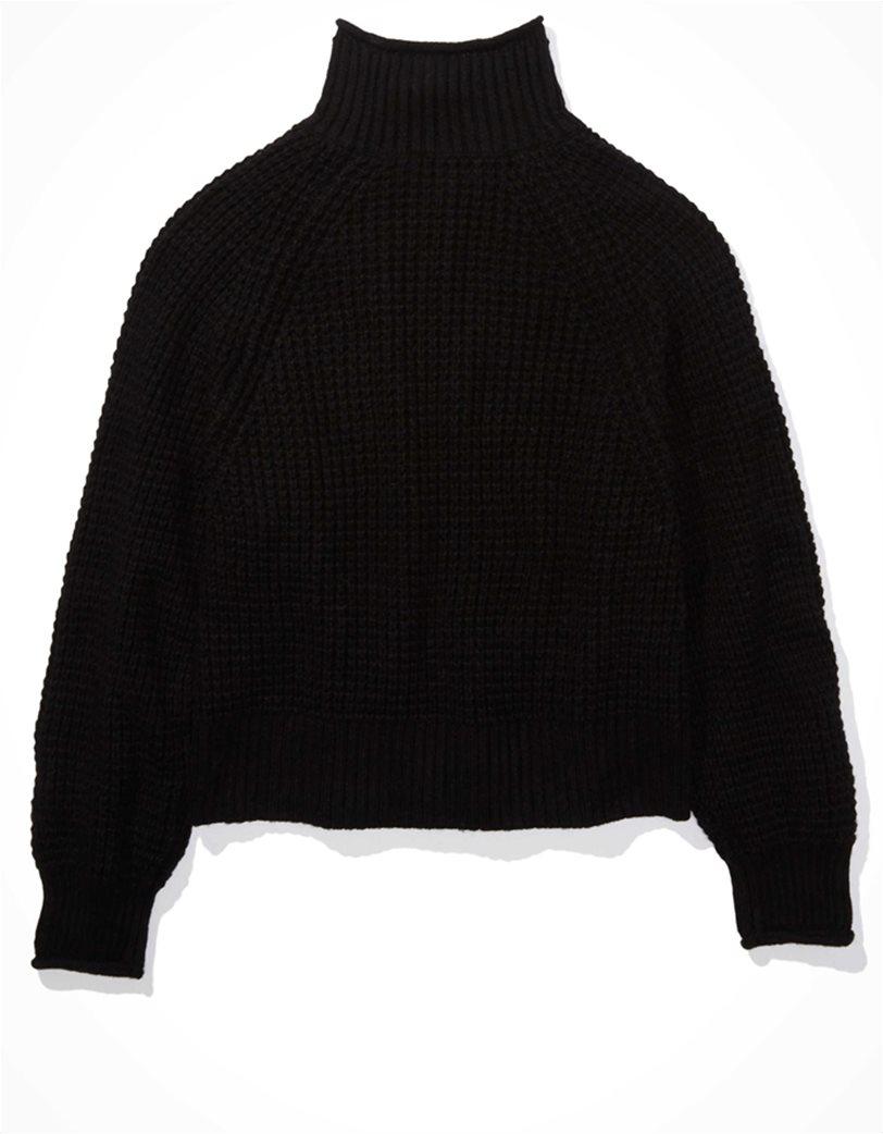 AE Dreamspun Mock Neck Sweater Μαύρο 3