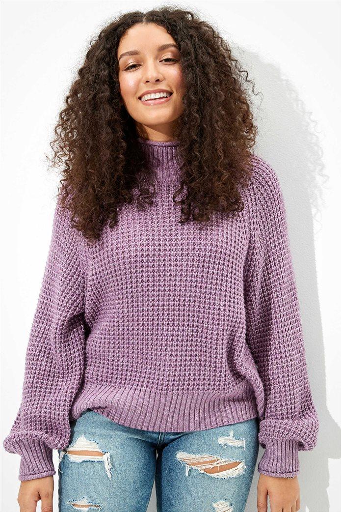 AE Dreamspun Mock Neck Sweater 0