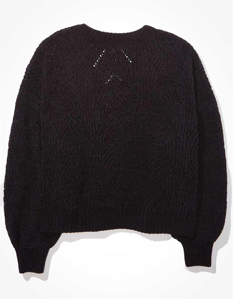 AE Chenille Pointelle V-Neck Sweater 3