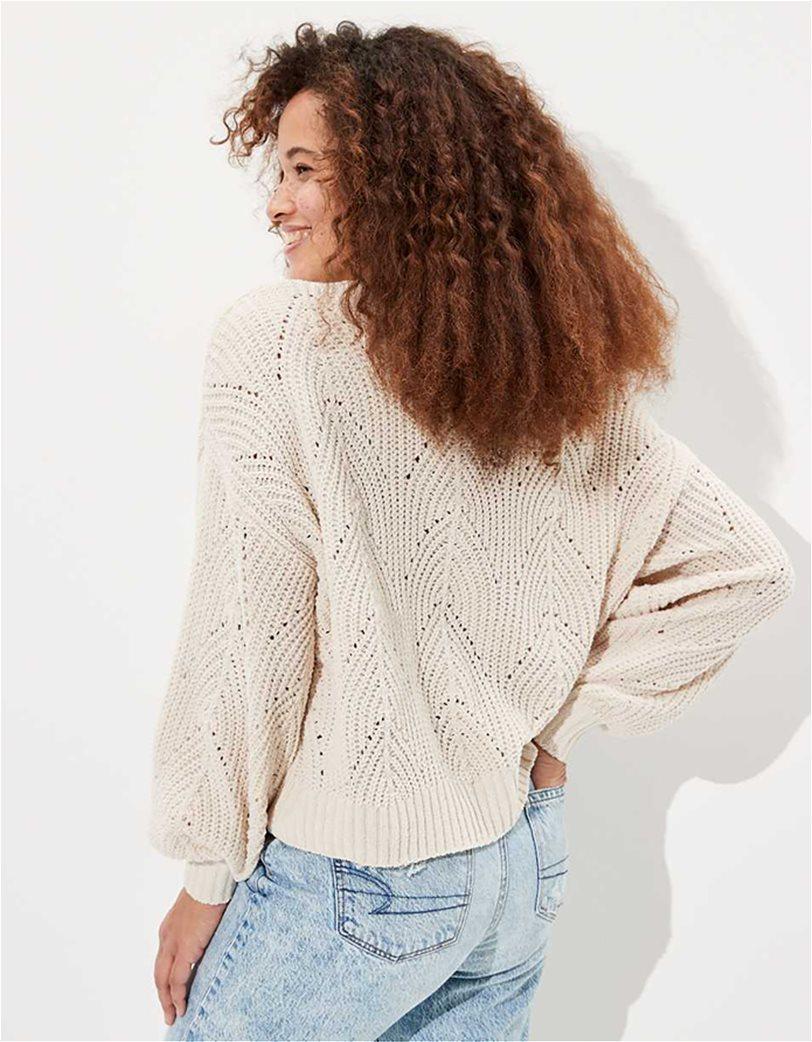AE Chenille Pointelle V-Neck Sweater 1