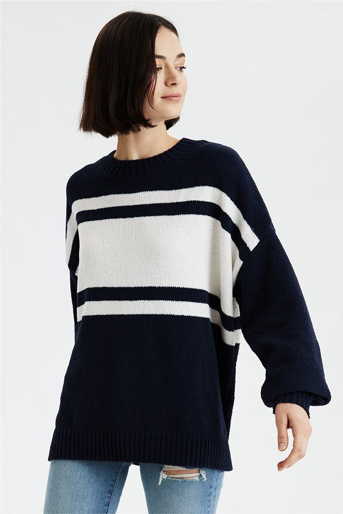 AE Chenille Crew Neck Oversized Sweater 0