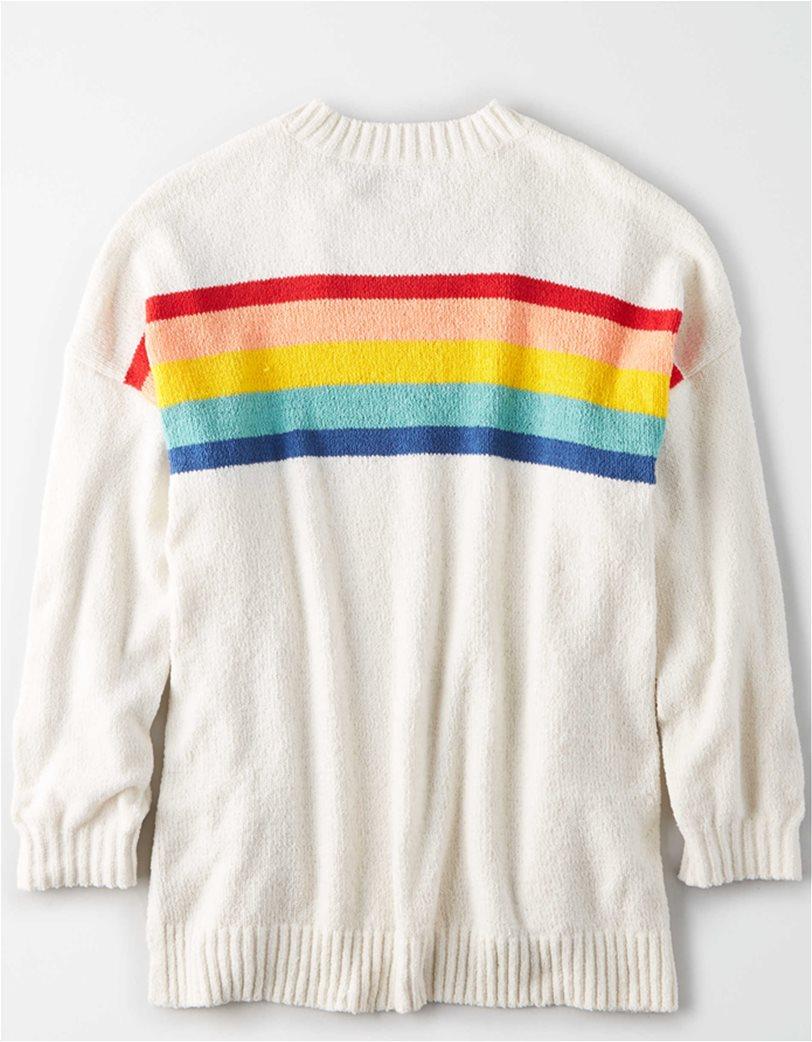 AE Chenille Striped Crew Neck Oversized Sweater 3