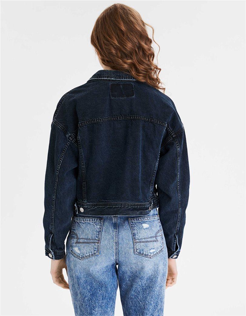 AE Cropped Dark Wash Denim Jacket 1