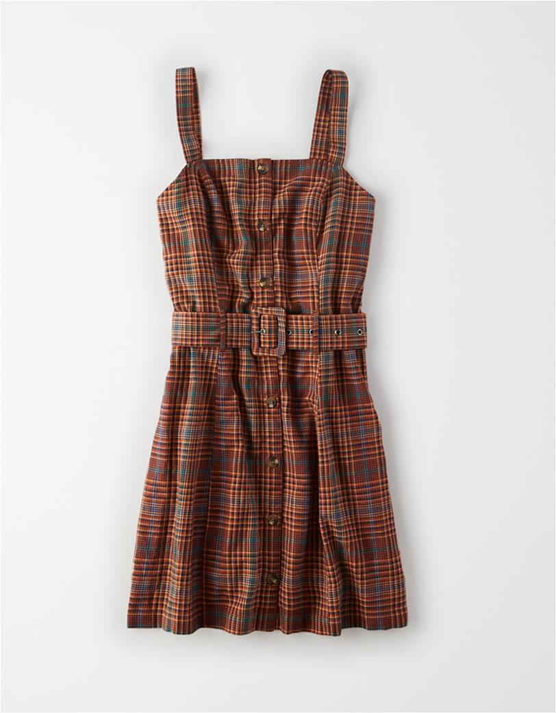 AE Plaid Button Down Dress 2