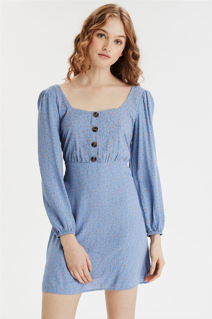 AE Long Sleeve Square Neck Mini Dress 0
