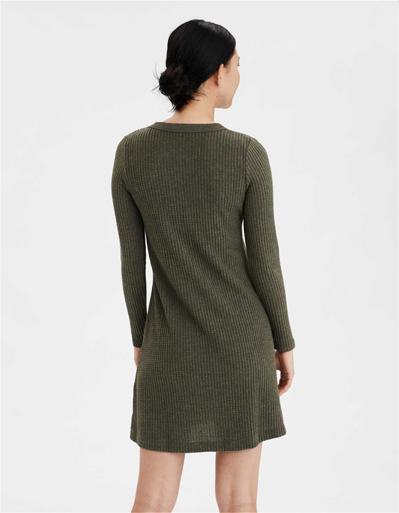 AE Plush Long Sleeve Button Front Dress 1