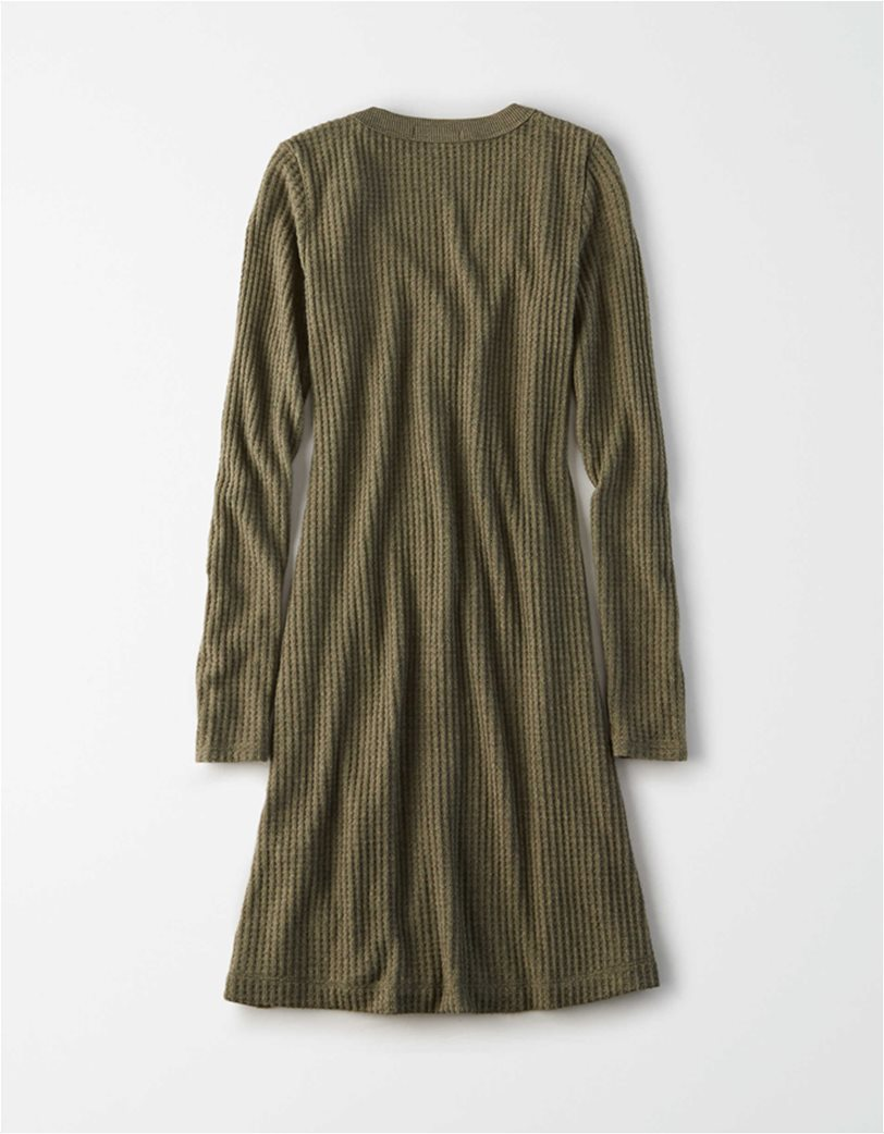 AE Plush Long Sleeve Button Front Dress 3