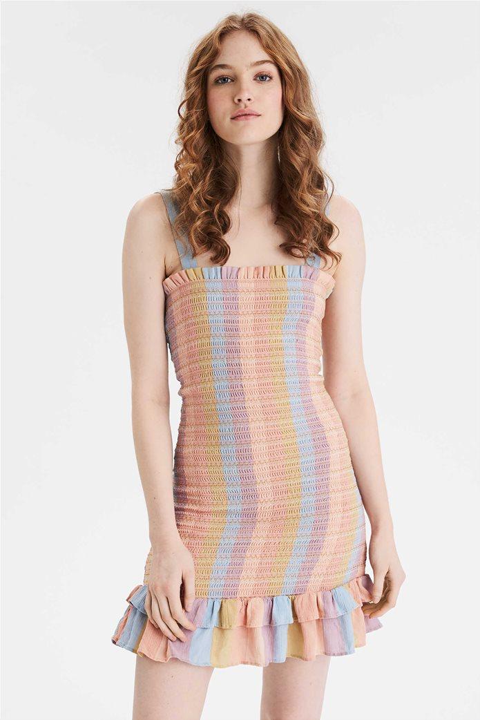 AE Smocked Bodycon Mini Dress Μουσταρδί 0