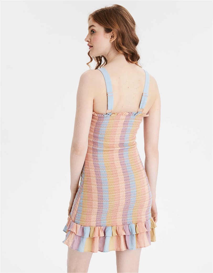 AE Smocked Bodycon Mini Dress Μουσταρδί 1