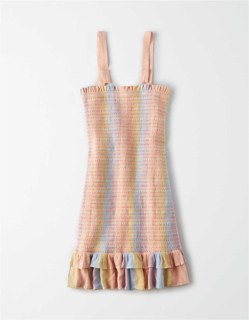 AE Smocked Bodycon Mini Dress Μουσταρδί 3