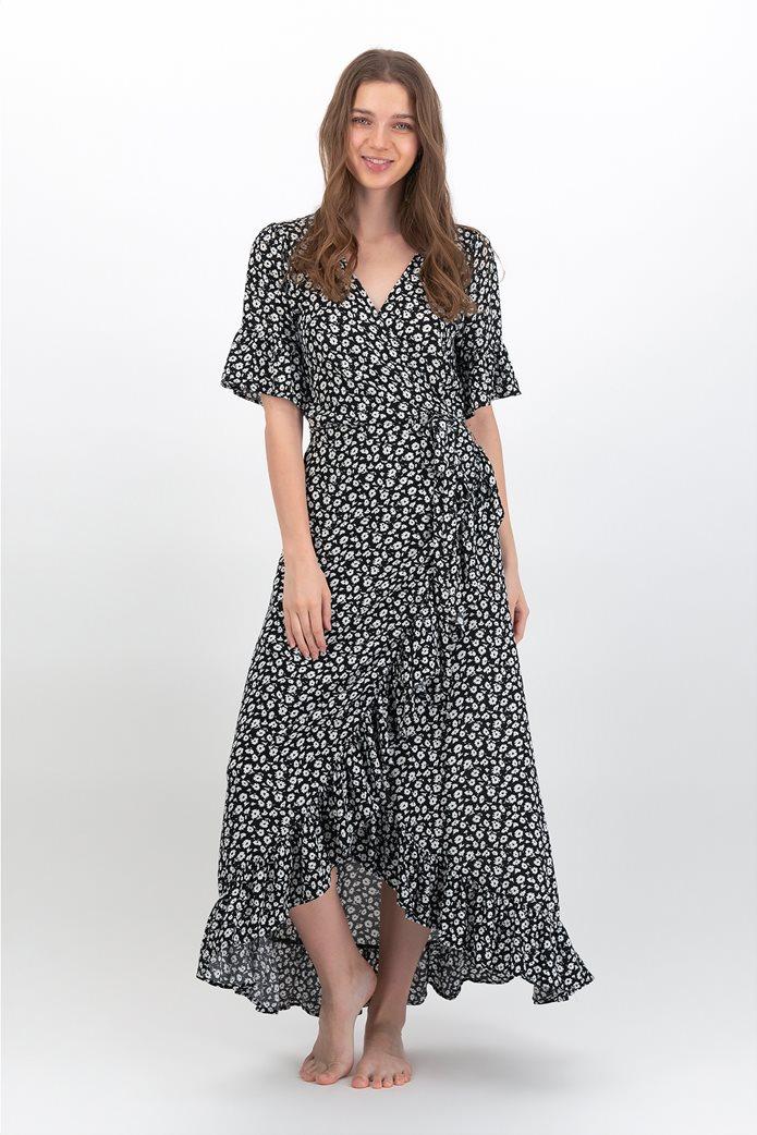 AE Ruffled Wrap Maxi Dress 0