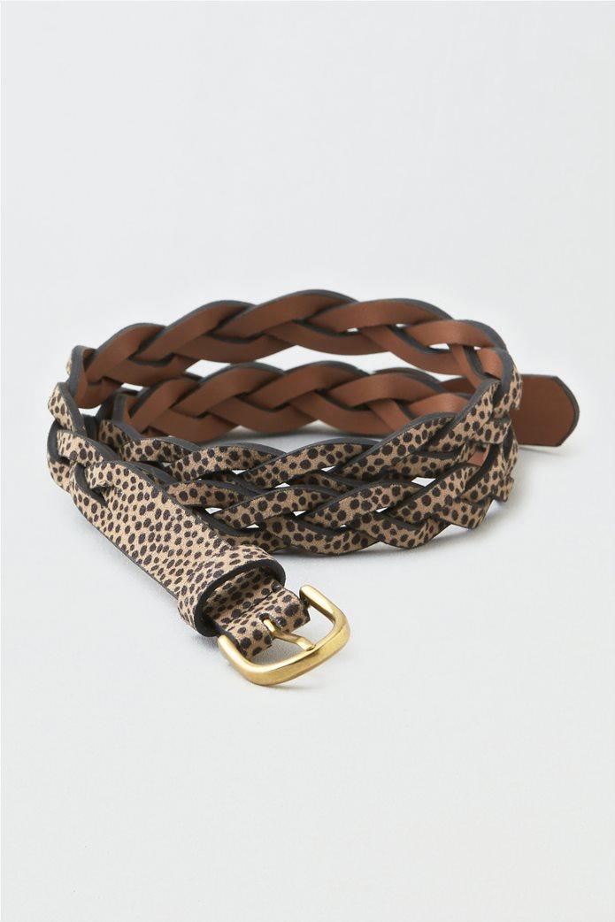 AEO Animal Print Braided Belt 0