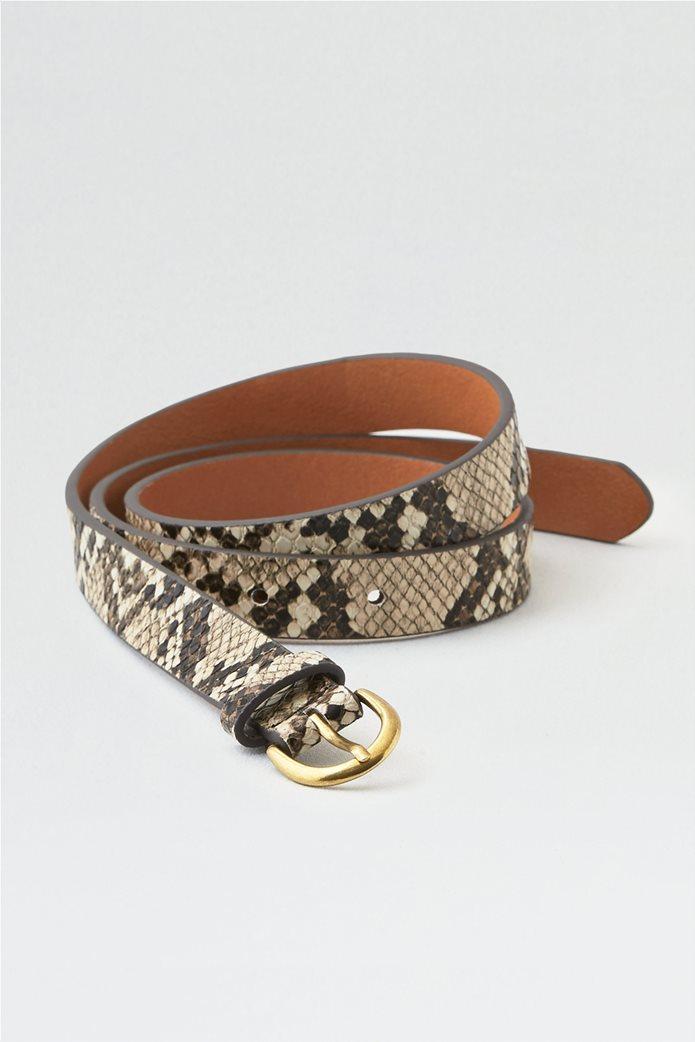 AEO Faux Snake Skin Belt 0