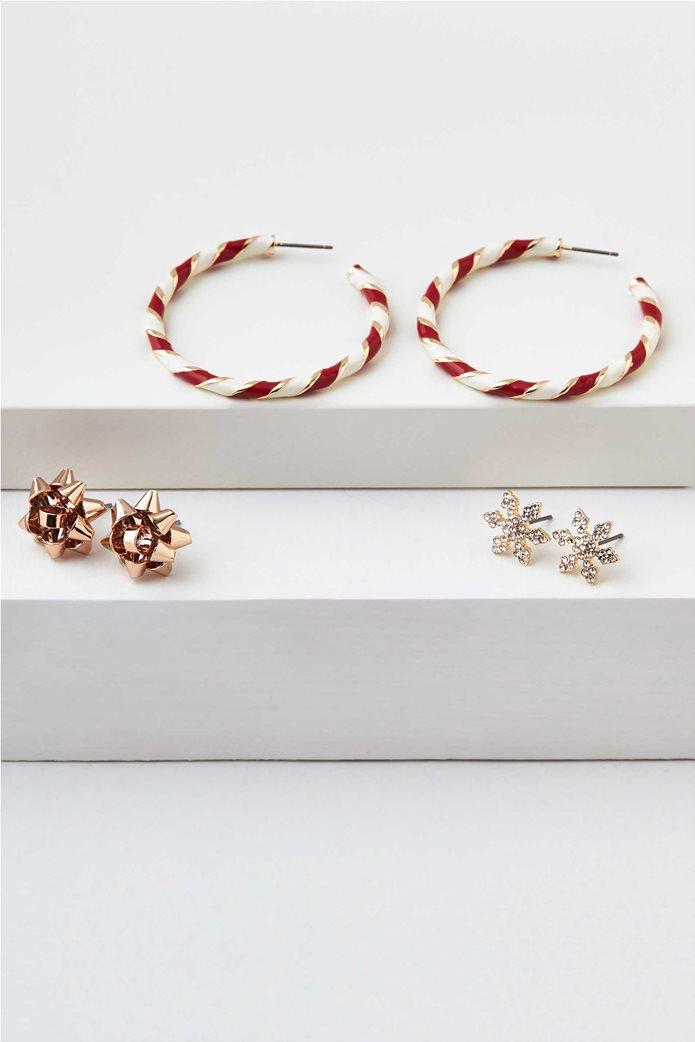 AEO Candy Cane Hoop Earrings 3-Pack 0