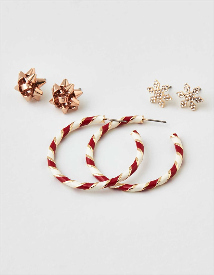 AEO Candy Cane Hoop Earrings 3-Pack 2