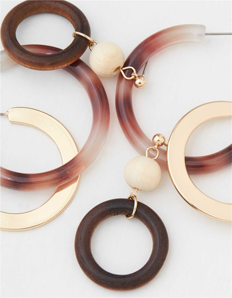 AEO Natural + Gold Hoop Earrings 3-Pack 1