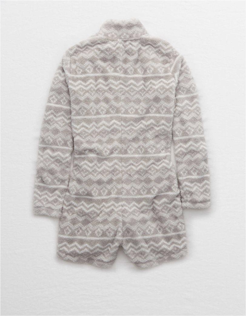 Aerie Fuzzy Sherpa Sleep Romper 4
