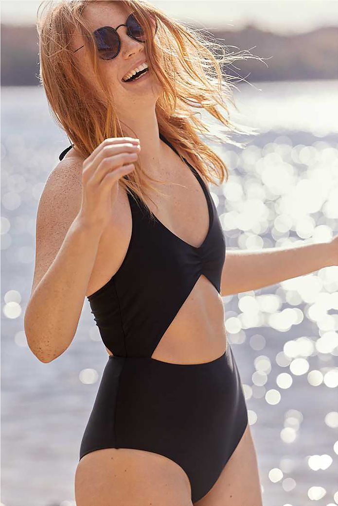 Aerie Cut Out One Piece Swimsuit Μαύρο 0