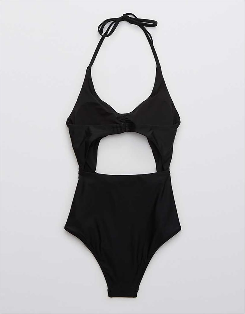 Aerie Cut Out One Piece Swimsuit Μαύρο 4