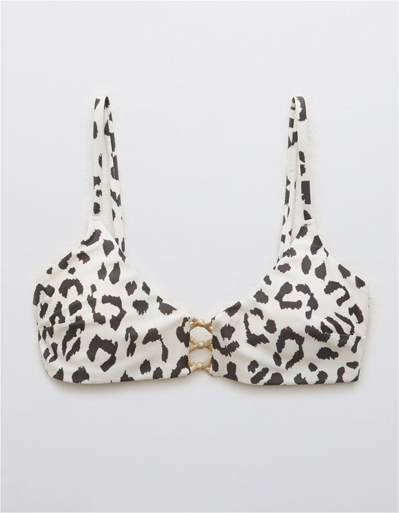 Aerie Leopard Knot Front Scoop Bikini Top 2