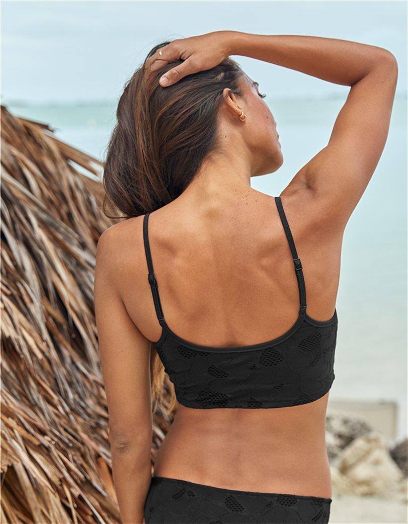 Aerie Jacquard Longline Scoop Bikini Top 1