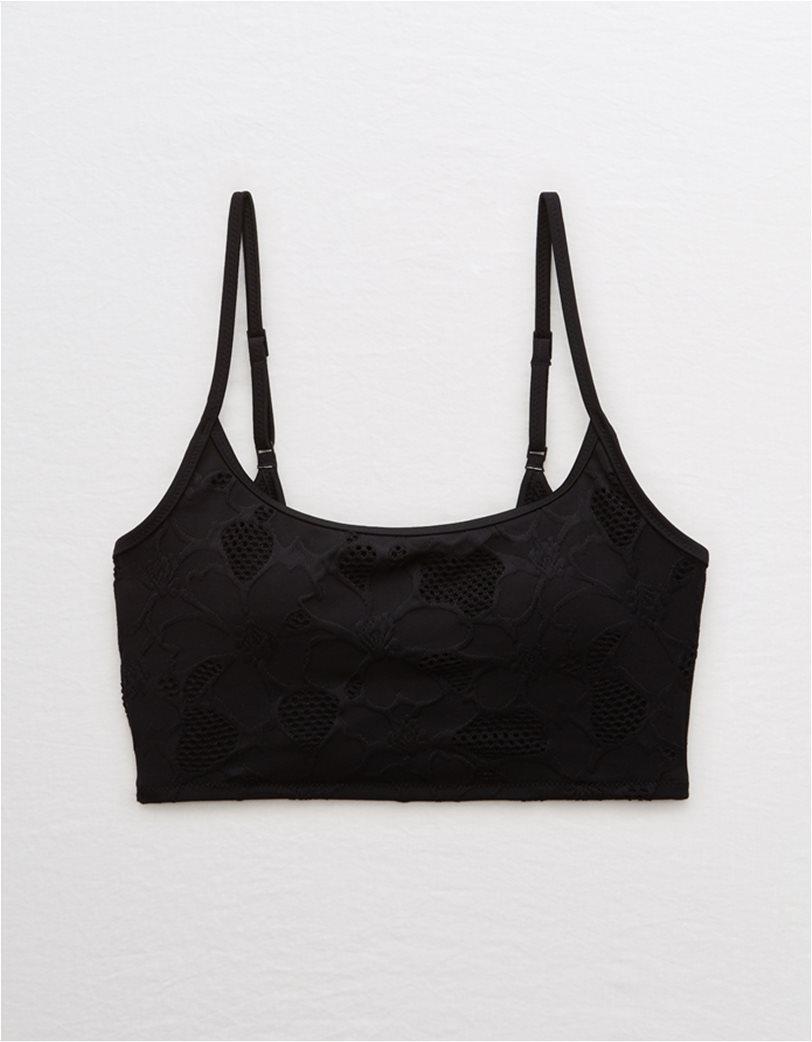 Aerie Jacquard Longline Scoop Bikini Top 2