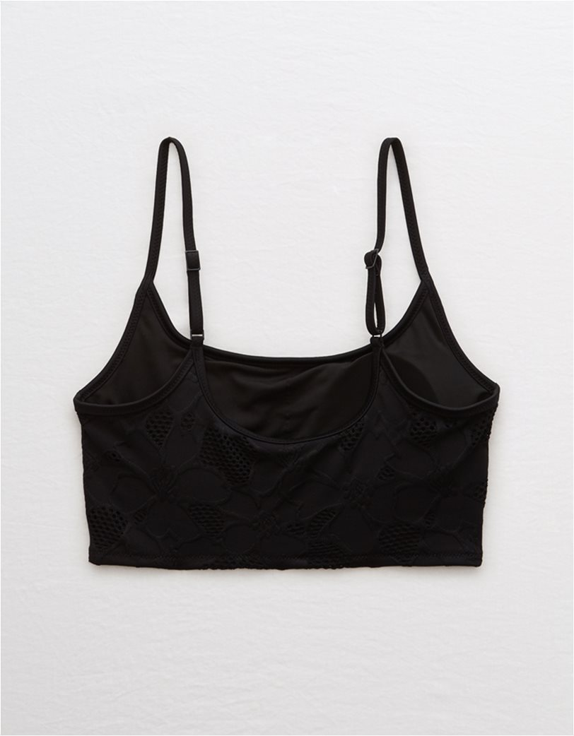 Aerie Jacquard Longline Scoop Bikini Top 3