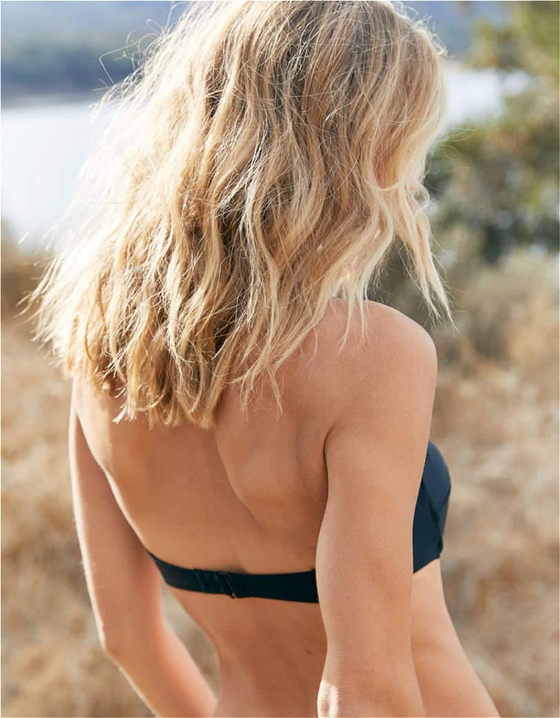 Aerie Bandeau Bikini Top Μαύρο 1