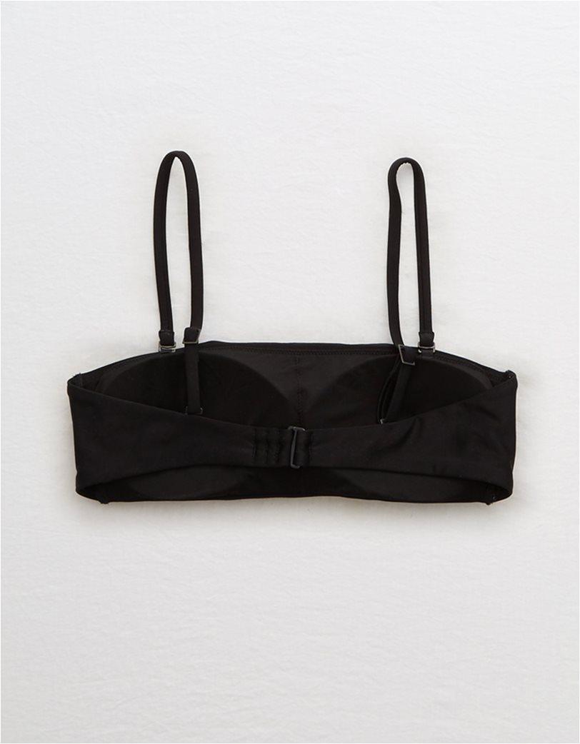 Aerie Bandeau Bikini Top Μαύρο 4