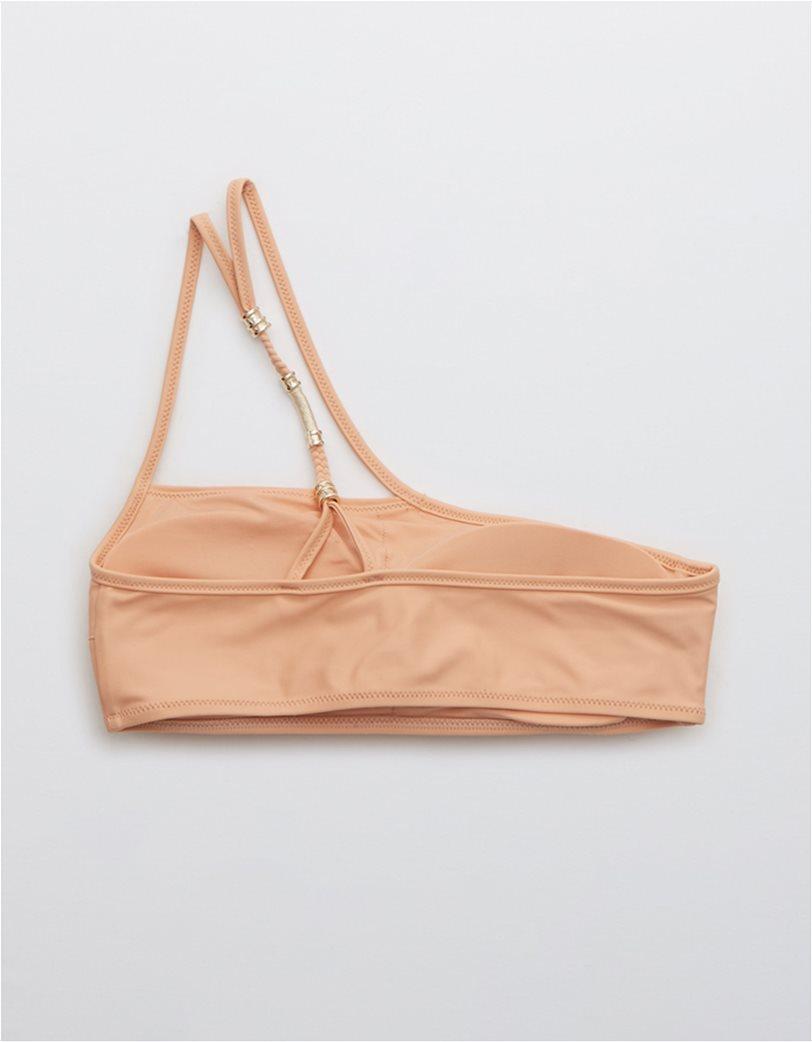 Aerie One Shoulder Bikini Top Ροδακινί 3