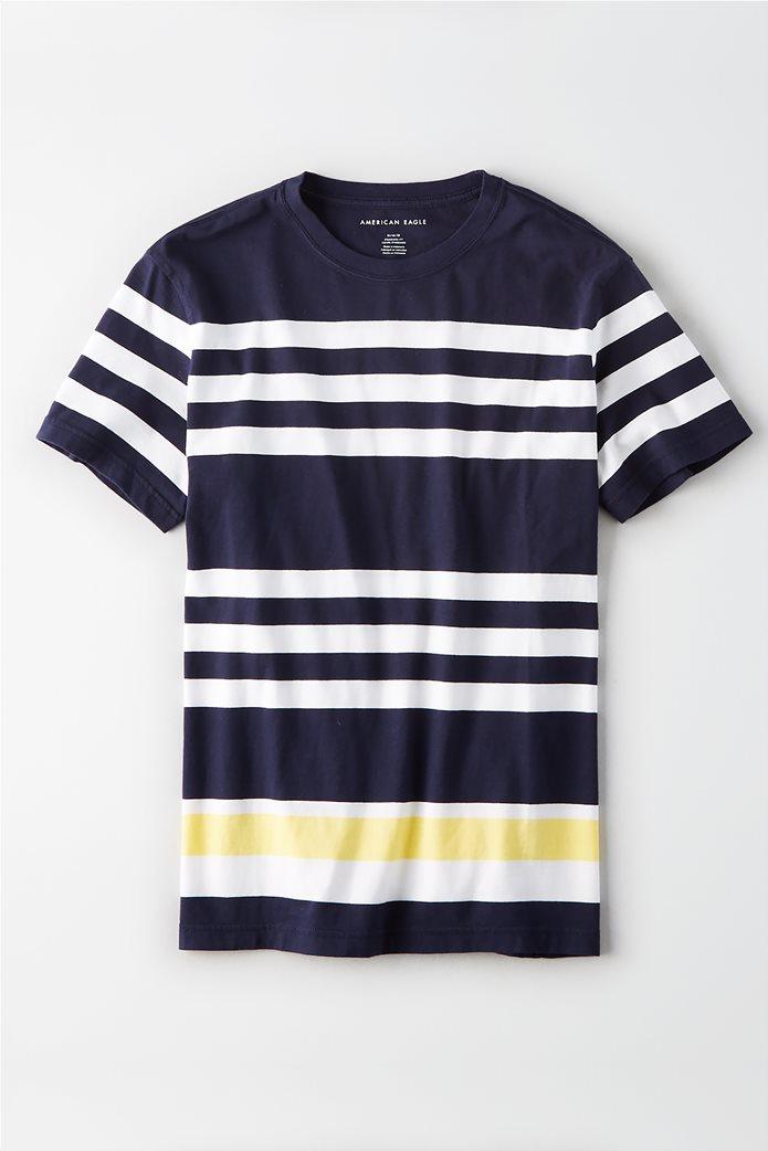 342cc6f60a AMERICAN EAGLE | AE Rugby Stripe T-Shirt Μπλε Σκούρο | notos
