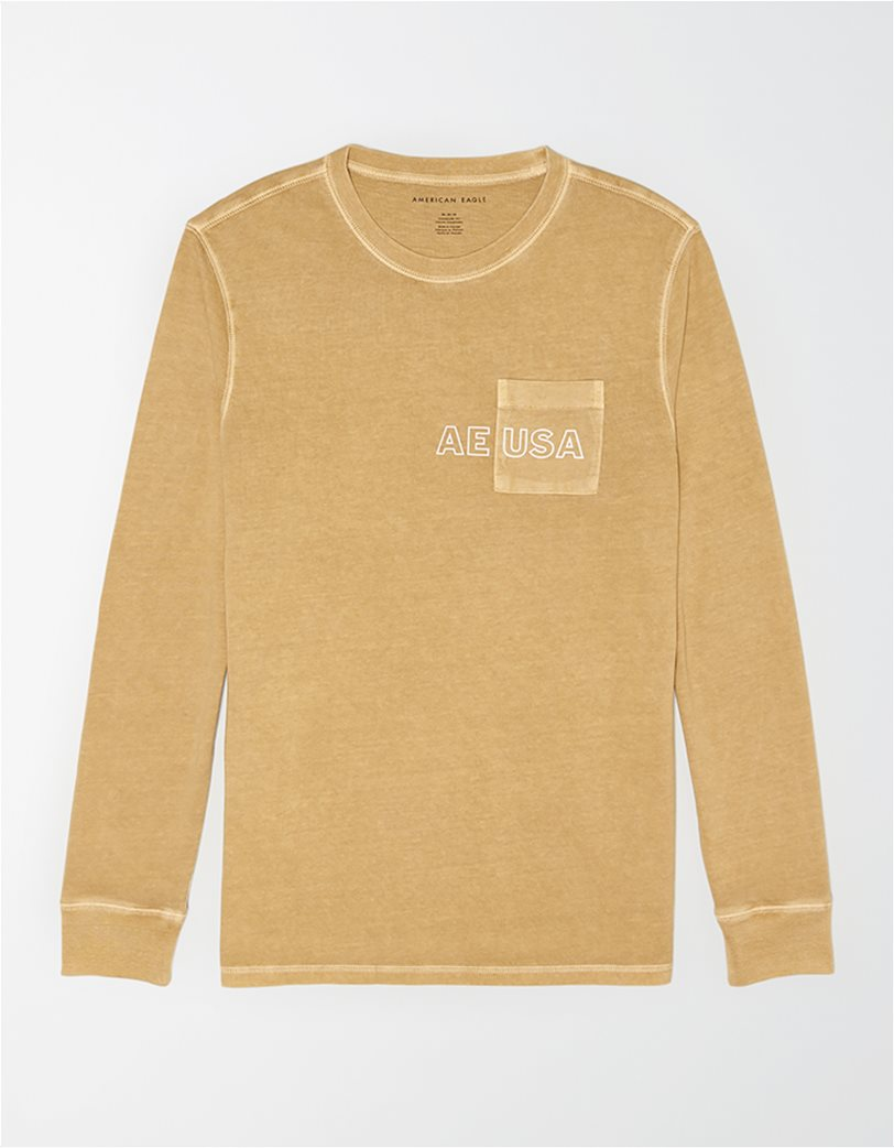AE Long Sleeve Graphic Pocket T-Shirt 3