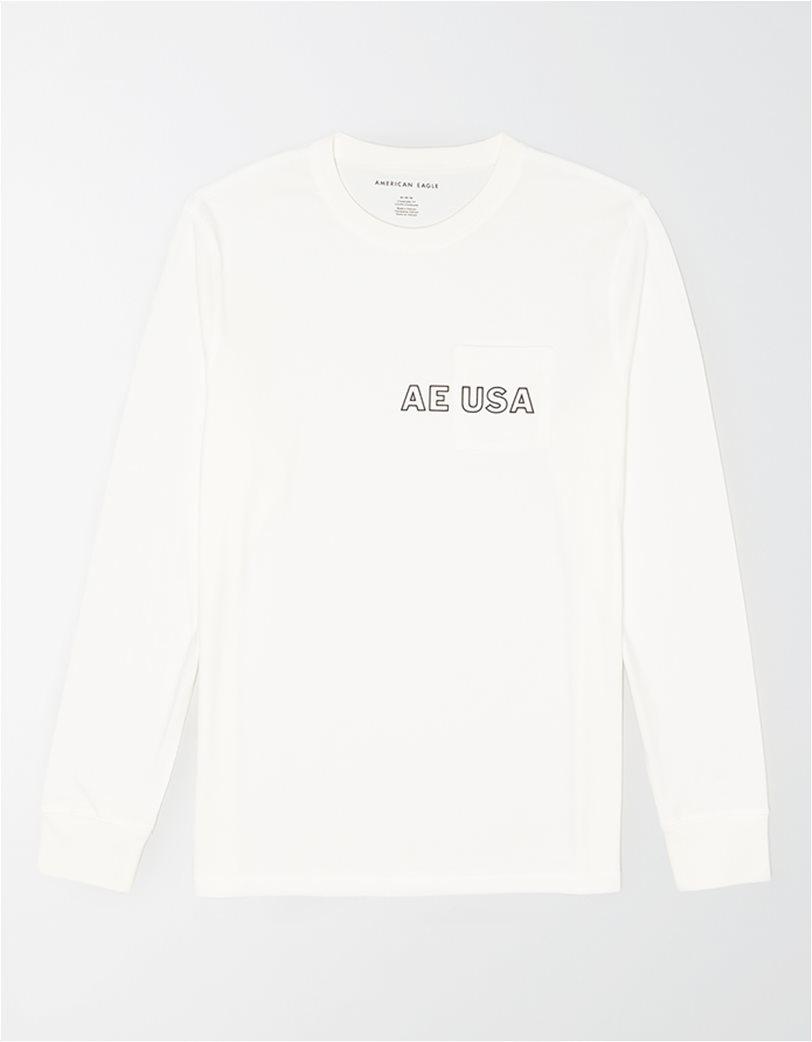 AE Long Sleeve Graphic Pocket T-Shirt 2