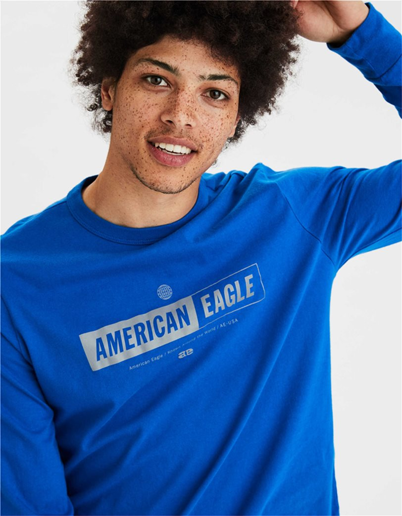 AE Super Soft Long Sleeve Reflective Graphic T-Shirt 1