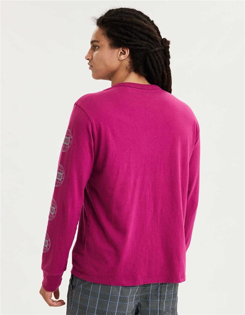 AE Super Soft Long Sleeve Reflective Graphic T-Shirt Φούξια 1