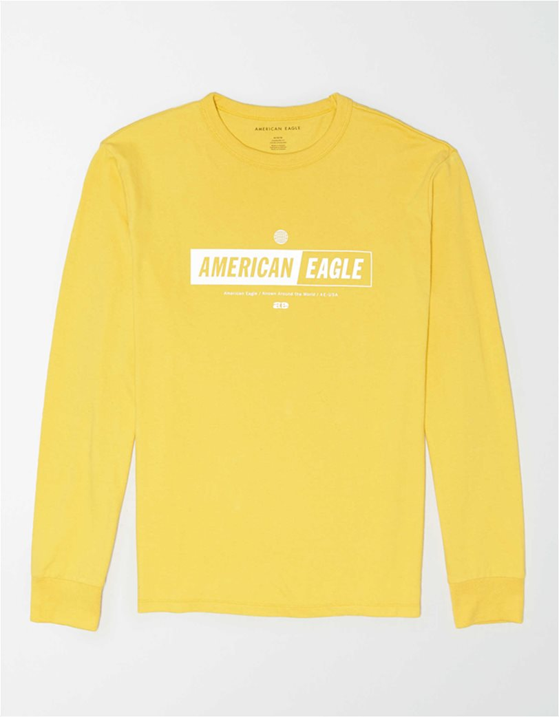 AE Super Soft Long Sleeve Reflective Graphic T-Shirt 2