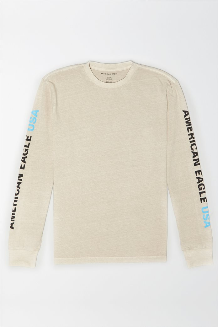 AE Vintage Wash Long-Sleeve Graphic T-Shirt 0