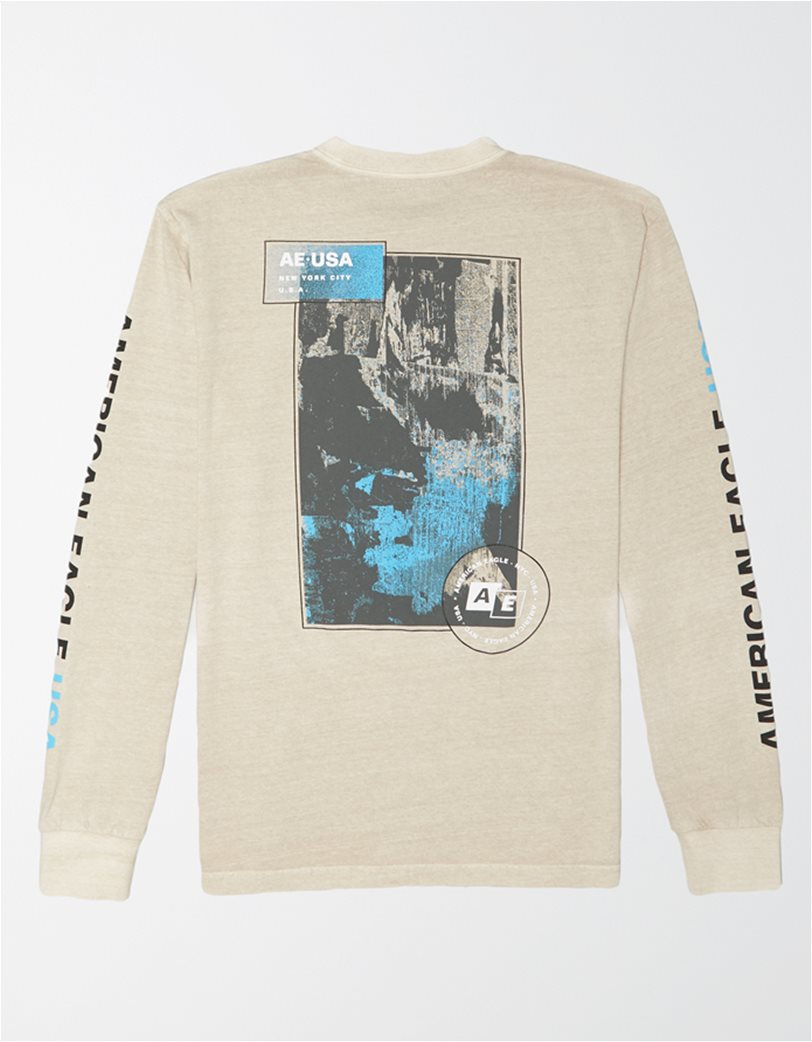 AE Vintage Wash Long-Sleeve Graphic T-Shirt 1