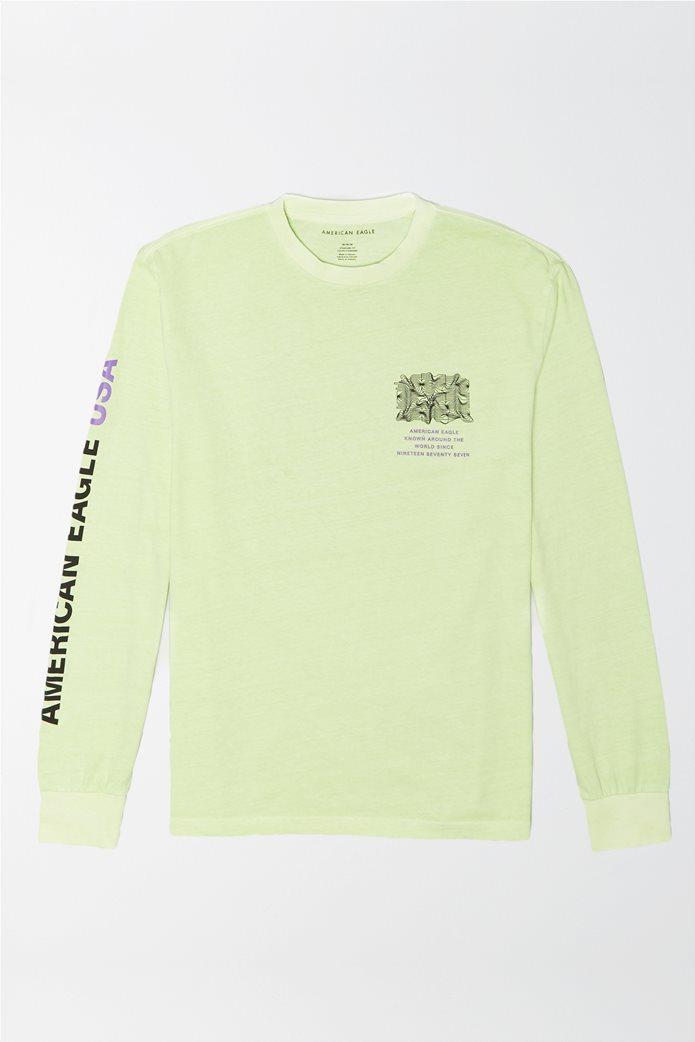 AE Vintage Wash Long-Sleeve Graphic T-Shirt 0
