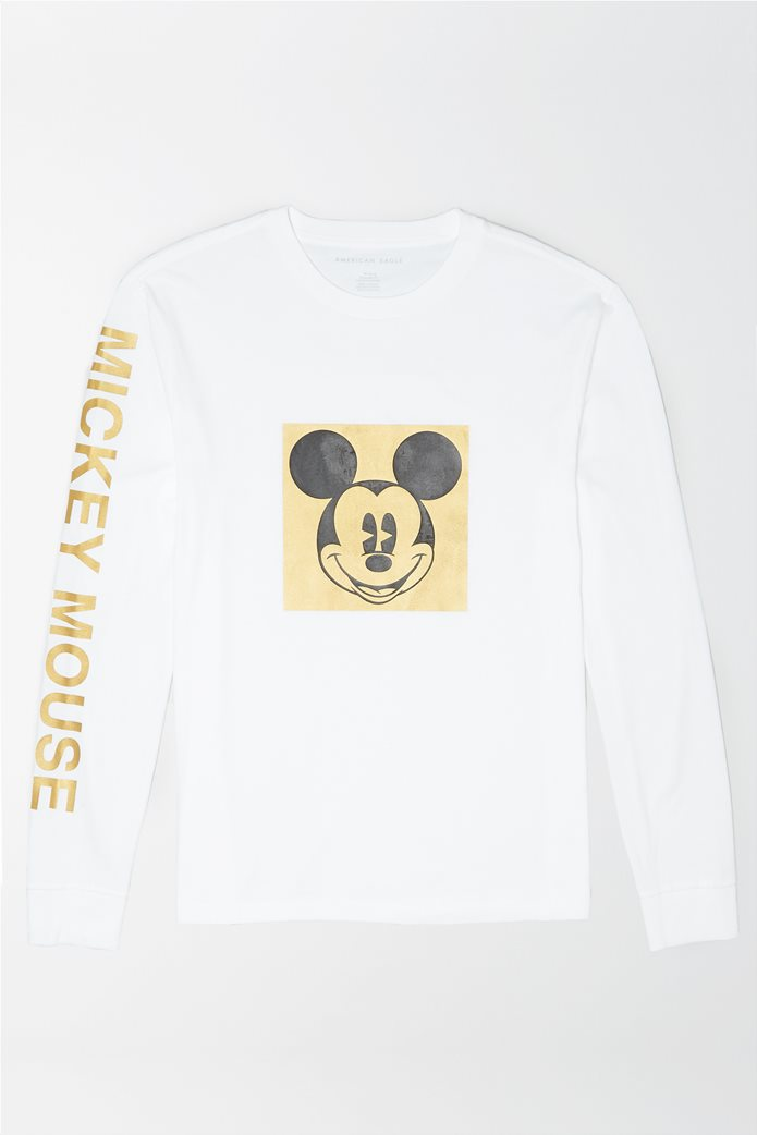 AE Long-Sleeve Mickey Mouse Graphic T-Shirt 0