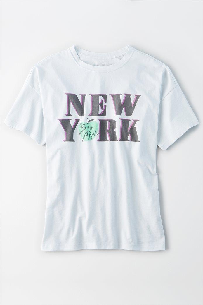 AE Oversized NYC Graphic T-Shirt Γαλάζιο 0