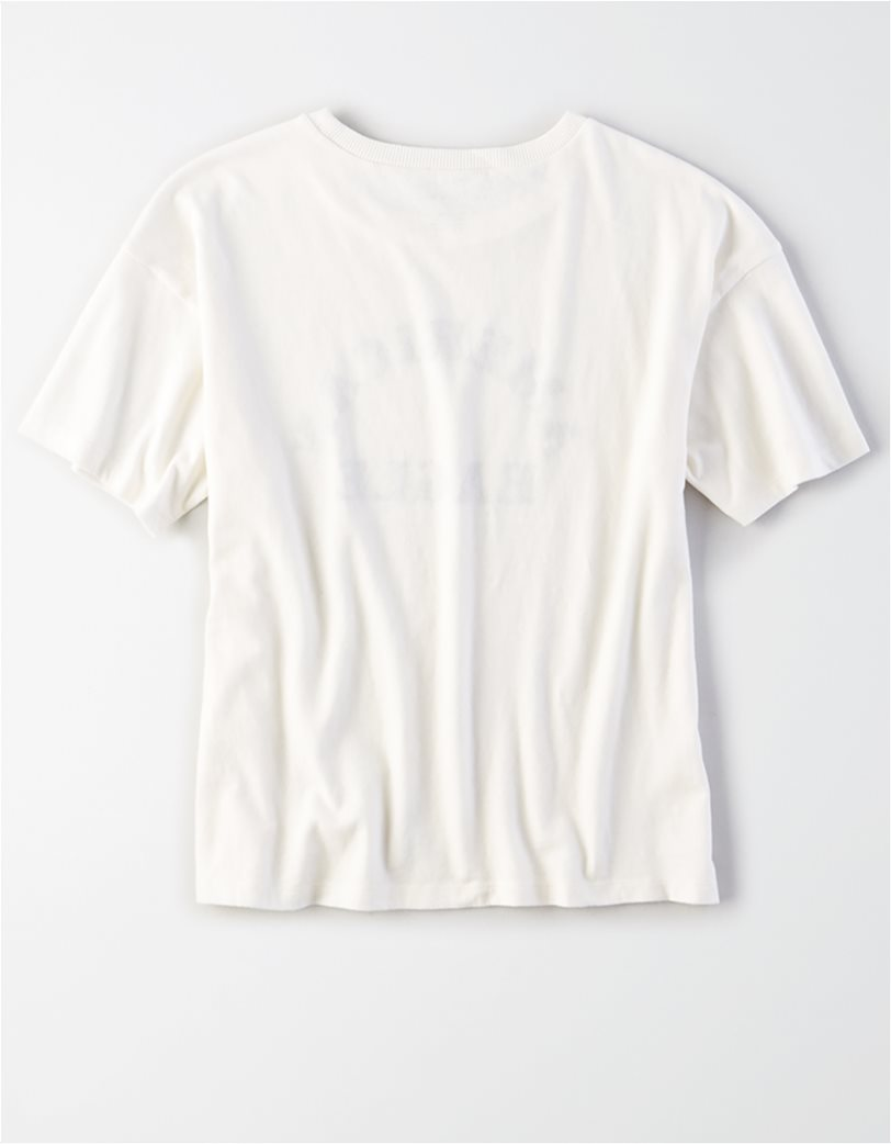 AE Embroidered Graphic T-Shirt Λευκό 4