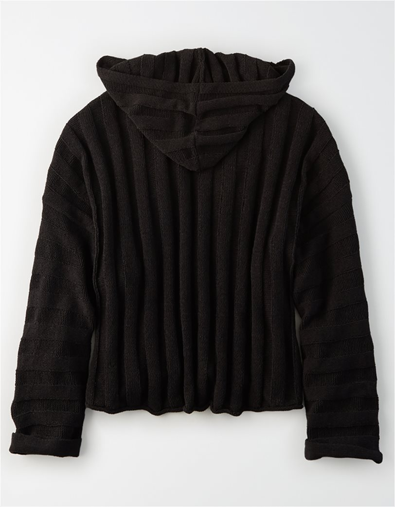Ae Chenille Cropped Hooded Sweater 3
