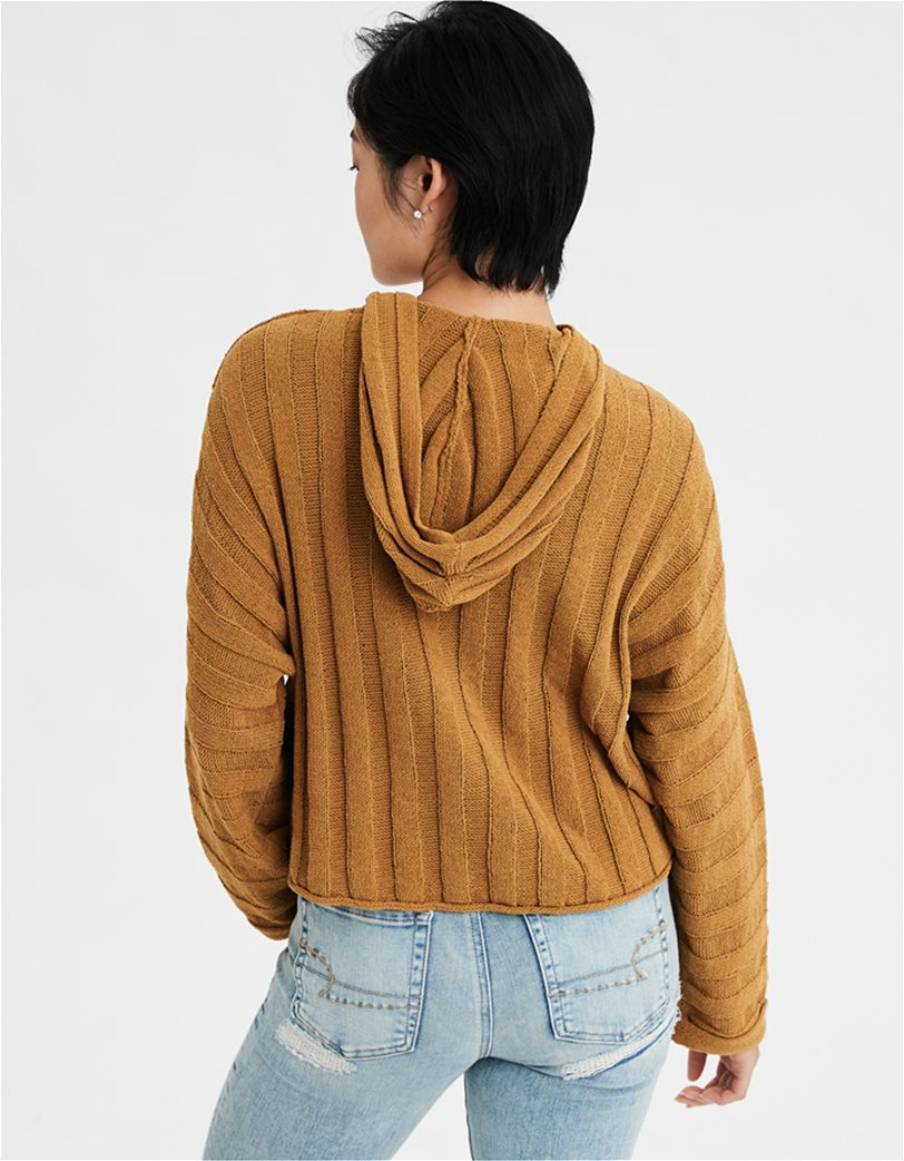 AE Chenille Cropped Hooded Sweater 1