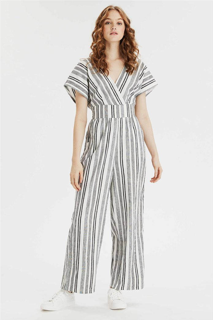 AE Short Sleeve V-neck Jumpsuit 0